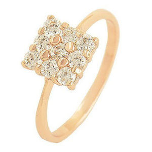 Jewelry - 😍 CUTE Rose Gold Filled Clear CZ Square Ring 😍